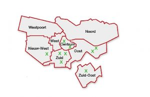 Catchment areas Amsterdam